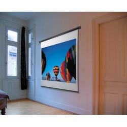 reflecta Federroller 153x153 cm mit Stopmechanismus