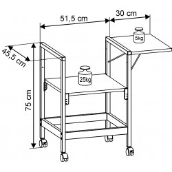Side Shelf for OHP Projection Table Standard