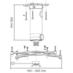 reflecta SUPERIA Deckenhalterung 250 mm