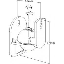 reflecta Sono 2.1-TR Universal Lautsprecher Halterungen
